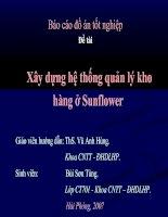 Xây dựng hệ thống quản lý kho hàng ở Sunflower
