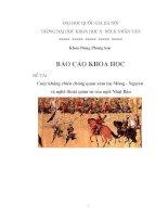 cuộc kháng chiến chống quân xâm lược Mông - Nguyên và nghệ thuật quân sự của người Nhật Bản