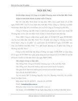 Tổng quan về Công ty cổ phần Thương mại và Du lịch Bắc Ninh.