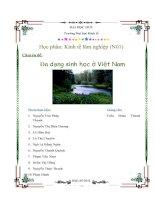 Đa dạng sinh học ở Việt Nam