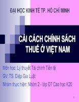 Cải cách chính sách thuế ở Việt nam