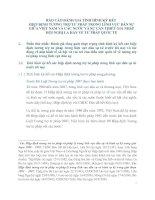 BÁO CÁO ĐÁNH GIÁ TÌNH HÌNH KÝ KẾT  HIỆP ĐỊNH TƯƠNG TRỢ TƯ PHÁP TRONG LĨNH VỰC DÂN SỰ GIỮA VIỆT NAM VÀ CÁC NƯỚC VÀ SỰ CẦN THIẾT GIA NHẬP HỘI NGHỊ LA HAY VỀ TƯ PHÁP QUỐC TẾ