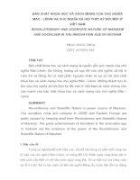 BẢN CHẤT KHOA HỌC VÀ CÁCH MẠNG CỦA CHỦ NGHĨA MÁC - LÊNIN VÀ CHỦ NGHĨA XÃ HỘI THỜI KỲ ĐỔI MỚI Ở VIỆT NAM