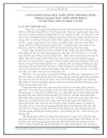 LỒNG GHÉP GIÁO DỤC GIỚI TÍNH CHO HỌC SINH TRONG GIẢNG DẠY MÔN SINH HỌC 8 Ở TRƯỜNG TRUNG HỌC CƠ SỞ