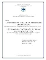 LEADERSHIP'S IMPACT ON EMPLOYEE ENGAGEMENT