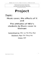 Music cover, the effects of it and The attitudes of NEU's students to Music cover in Vietnam