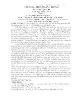 SÁNG KIẾN KINH NGHIỆM RÈN LUYỆN KỸ NĂNG PHÂN TÍCH CHO HỌC SINHTRONG HỌC TẬP ĐỊA LÍ LỚP 9