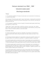 Vietnam standard tcvn 5945 _ 1995 Industrial waste water  Discharge standards