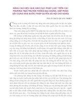 NÂNG CAO HIỆU QUẢ GIÁO DỤC PHÁP LUẬT TRÊN CÁC PHƯƠNG TIỆN TRUYỀN THÔNG ĐẠI CHÚNG, GÓP PHẦN XÂY DỰNG NHÀ NƯỚC PHÁP QUYỀN XÃ HỘI CHỦ NGHĨA