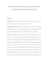 ĐẶC ĐIỂM HÌNH ẢNH CỘNG HƯỞNG TỪ U TẾ BÀO SCHWANN VÀ U MÀNG NÃO TRONG MÀNG CỨNG NGOÀI TỦY