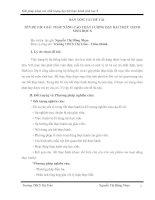 GIẢI  PHÁP NÂNG CAO CHẤT LƯỢNG DẠY BÀI THỰC HÀNH  SINH HỌC 8