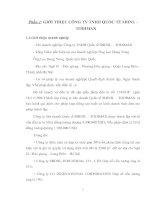 THỰC TRẠNG QUẢN LÝ CHẤT LƯỢNG CỦA CÔNG TY LIÊN TNHH QUỐC TẾ SHINIL – TODIMAX