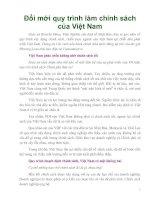 Đổi mới quy trình làm chính sách của Việt Nam