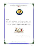 GIẢI PHÁP MỞ RỘNG VÀ NÂNG CAO HIỆU QUẢ  CHO VAY TIÊU DÙNG TẠI NGÂN HÀNG TMCP  SÀI GÒN – HÀ NỘI CHI NHÁNH BÌNH DƯƠNG