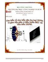 Tìm hiểu về cảm biến siêu âm loại SRF05 và giao tiếp giữa vi điều khiển 8051 với cảm biến SRF05