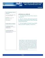 Dự báo kết quả kinh doanh đột biến ngành đường quý I năm 2011