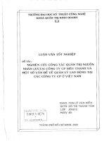 660 Nghiên cứu công tác quản trị nguồn nhân lực tại Công ty cổ phần Siêu Thanh và một số vấn đề về quản lý lao động tại các Công ty cổ phần tại Việt Nam