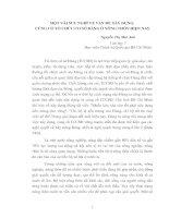 MỘT VÀI SUY NGHĨ VỀ VẤN ĐỀ XÂY DỰNG,CỦNG CỐ TỔ CHỨC CƠ SỞ ĐẢNG Ở NÔNG THÔN HIỆN NAY