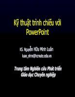 Kỹ thuật trình chiếu với PowerPoint