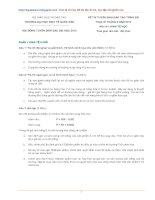 Đề thi  tuyển sinh đào tạo trình độ thác sỹ tháng 8 năm 2010