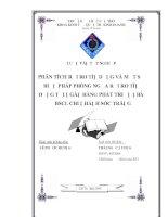 PHÂN TÍCH RỦI RO TÍN DỤNG VÀ MỘT SỐ BIỆN PHÁP PHÒNG NGỪA RỦI RO TÍN DỤNG TẠI NGÂN HÀNG PHÁT TRIỂN NHÀ ĐBSCL CHI NHÁNH SÓC TRĂNG