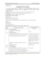 Soạn bài: Luyện tập thay thế từ ngữ để liên kết câu
