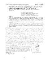 Nghiên cứu phản ứng động lực cầu dây văng dưới tác dụng của tải trọng di động