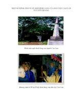 MỘT SỐ HÌNH ẢNH VỀ LỄ HỘI ĐÌNH LÀNG CỦA DẨN TỘC CAO LAN Ở TUYÊN QUANG