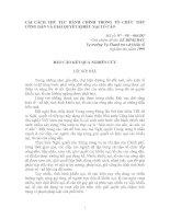 CẢI CÁCH THỦ TỤC HÀNH CHÍNH TRONG TỔ CHỨC TIẾP CÔNG DÂN VÀ GIẢI QUYẾT KHIẾU NẠI TỐ CÁO