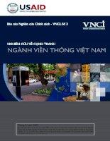 Nghiên cứu cạnh tranh ngành viễn thông Việt Nam