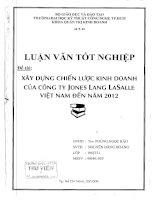 331 Xây dựng chiến lược kinh doanh của công ty Jones Lang Lasalle Việt Nam đến năm 2012