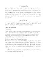 QUY ĐỊNH CỦA PHÁP LUẬT HIỆN HÀNH VỀ ĐIỀU KIỆN KINH DOANH (ĐKKD) VÀ CHỨNG CHỈ HÀNH NGHỀ (CCHN)