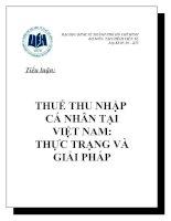 Thuế thu nhập cá nhân và thực trạng ở Việt Nam