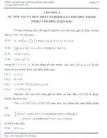 sự tồn tại và duy nhất nghiệm của phương trình nhiệt với điều kiện đầu