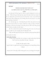 CHÍNH SÁCH PHÁT HUY NĂNG LỰC LAO ĐỘNG SÁNG TẠO CỦA TRÍ THỨC VÀ SINH VIÊN