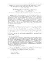 NGHIÊN CỨU CÔNG NGHỆSẤY KHÍ ĐỘNG KẾT HỢP VỚI QUÁ TRÌNH  PHÂN CẤP HẠT SẢN PHẨM ỨNG DỤNG CHO VẬT LIỆU SẤY  DẠNG BỘT NHÃO
