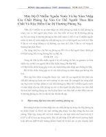 Mức Độ Ô Nhiễm Nguồn Nước Và Sự Xâm Nhập Các Chất Phóng Xạ Vào Cơ Thể Người Theo Bản Chất Và Đặc Điểm Các Dị Thường Phóng Xạ
