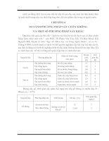 CHƯƠNG 6 SO SÁNH PHƯƠNG PHÁP SẤY CHÂN KHÔNG  VÀ MỘT SỐ PHƯƠNG PHÁP SẤY KHÁC