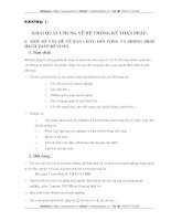 Một số  vấn đề về bản chất đối tượng và phương pháp  hạch toán kế toán