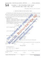 Các phương pháp giải nhanh bài toán hóa học