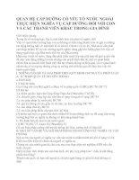 QUAN HỆ CẤP DƯỠNG CÓ YẾU TỐ NƯỚC NGOÀI THỰC HIỆN NGHĨA VỤ CẤP DƯỠNG ĐỐI VỚI CON VÀ CÁC THÀNH VIÊN KHÁC TRONG GIA ĐÌNH