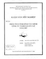 410 Phân tích tình hình tài chính công ty TNHH SaiGon Cap năm 2007