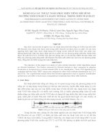 đánh giá các thuật toán phát hiện tiếng nói dùng ngưỡng thích nghi và mạng neural trong miền WAVELET
