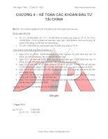 Bài giảng Kế toán tài chính: Kế toán các khoản đầu tư tài chính