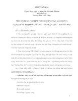 MỘT SỐ KINH NGHIỆM TRONG CÔNG TÁC XÂY DỰNG  TẬP THỂ SƯ PHẠM Ở TRƯỜNG THCS EA YÔNG – KRÔNG PẮC