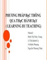 Phương pháp học thông qua thực hành dạy( learning by teaching)