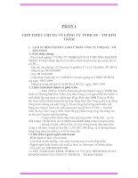 Báo cáo thực tập tại Công ty TNHH Sản Xuất và Thương Mại Kim Trâm