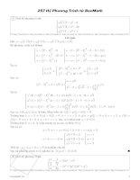 hệ phương trình từ boxmath