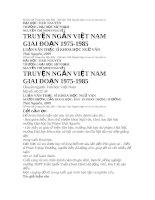 Truyện ngắn Việt Nam giai đoạn 1975 - 1985