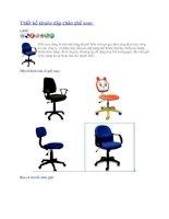 Thiết kế khuôn dập chân ghế xoay